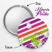 Miroir de Poche Flowers Pop