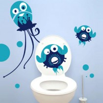 Stickers WC Monster