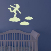 Stickers Lutin et nuages Luminescent