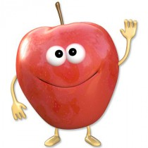 Stickers Fruigolos pomme rouge