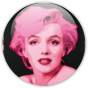 badge pop art Marilyn sur fond noir