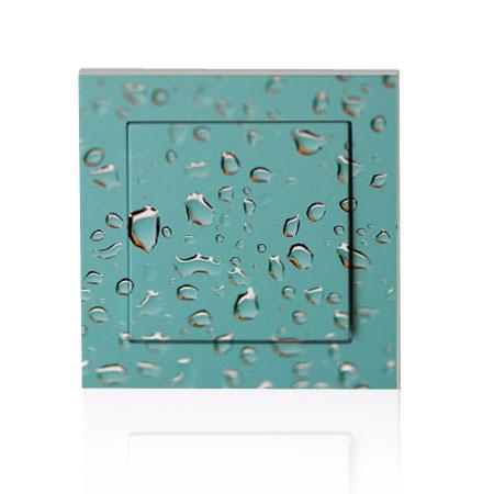 stickers interrupteur gros plan goutte eau sur vitre stickers malin. Black Bedroom Furniture Sets. Home Design Ideas