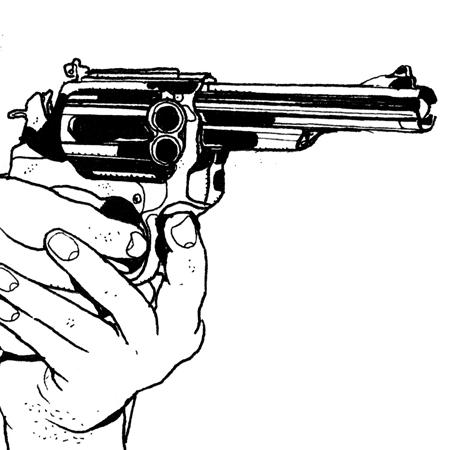 Stickers interrupteur dessin pistolet en main stickers malin - Main en dessin ...