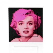 stickers interrupteur pop art Marilyn sur fond noir