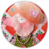 Badge Red Mamie