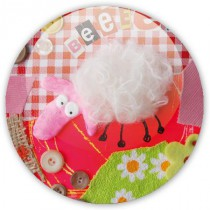 Badge White wool sheep