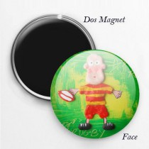Magnet Rugby rouge jaune