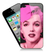 stickers iPhone pop art Marilyn sur fond noir
