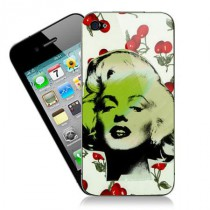 stickers iPhone pop art Marilyn sur motif cerises