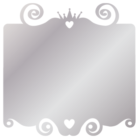 Stickers cadre princesse miroir stickers malin for Miroir princesse