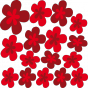 Stickers Fleurs Design 2 rouges