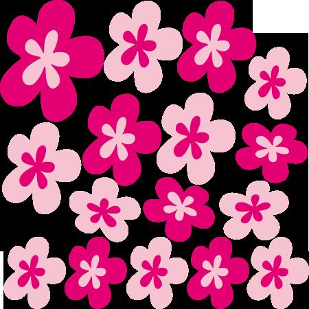 stickers fleurs design 2 roses stickers malin. Black Bedroom Furniture Sets. Home Design Ideas
