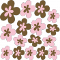 Stickers Fleurs Design rose marron