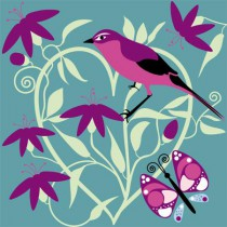POSTER Oiseau rose collection nature 2