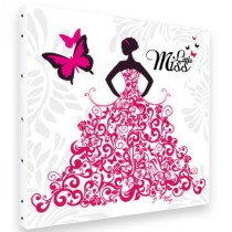 Toile Carrée Little Miss Pink