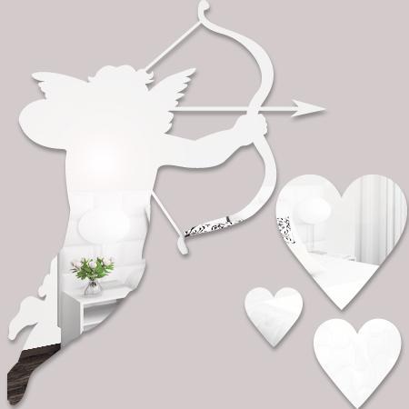 stickers ange cupidon miroir stickers malin. Black Bedroom Furniture Sets. Home Design Ideas