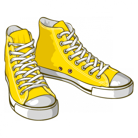 Stickers Yellow sneakers
