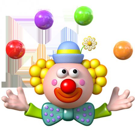Stickers Cirque Clown Jongleur Stickers Malin