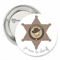 Badge collection Je suis... le sheriff