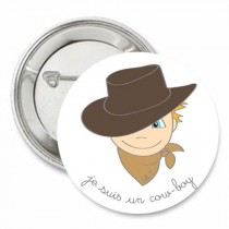 Badge collection Je suis... un cow-boy