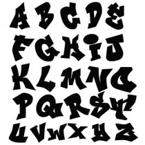 Stickers Alphabet Graffiti (1 lettre)