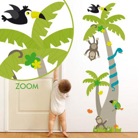 Stickers Arbre Animaux Jungle - Stickers Malin