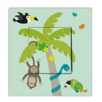 Stickers Interrupteur Animaux Jungle