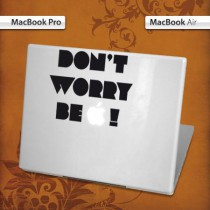 Stickers Mac Dont worry be Apple !
