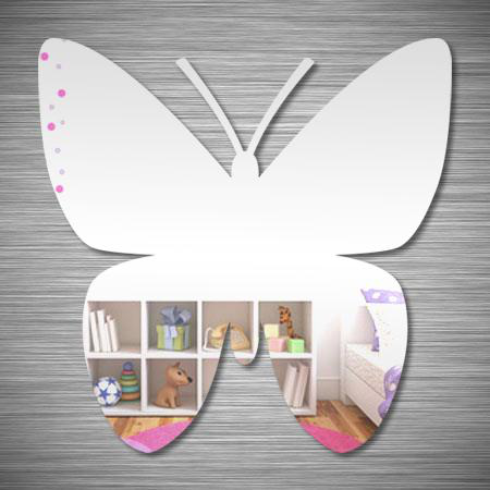 stickers miroir en forme de papillon stickers malin. Black Bedroom Furniture Sets. Home Design Ideas