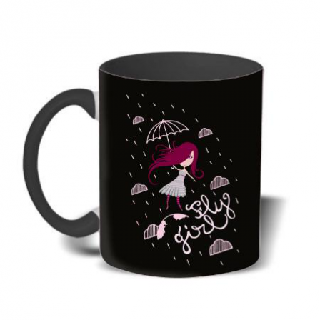 Mug color Fly girl