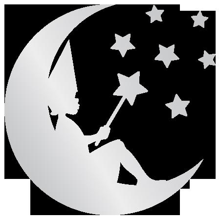 Adh sif miroir f e sur la lune stickers malin for Sticker miroir adhesif