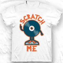 Tee shirt col rond homme Scratch me
