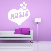 Stickers Coeur Music