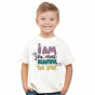 Tee shirt col rond enfant I am