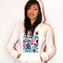 Sweat zip capuche femme Hungry