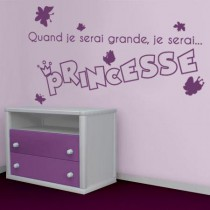 Stickers JE SERAI Princesse