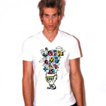 Tee shirt col V homme Abc