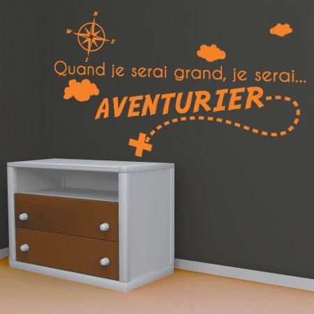 stickers je serai aventurier stickers malin. Black Bedroom Furniture Sets. Home Design Ideas