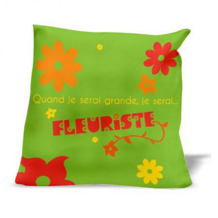 coussin je serai fleuriste stickers malin. Black Bedroom Furniture Sets. Home Design Ideas