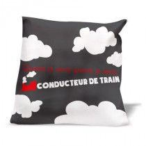 Coussin JE SERAI Conducteur de train