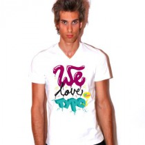 Tee shirt col V homme We love