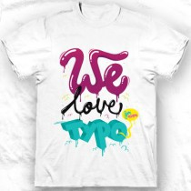 Tee shirt col rond homme We love