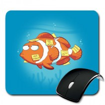 Tapis de souris Post it Fish