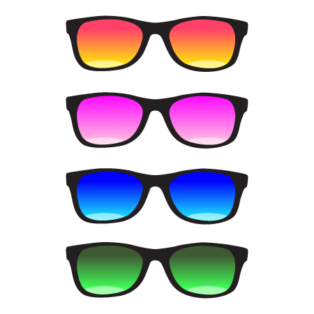 Top Stickers Lunettes de soleil - Stickers Malin GE19
