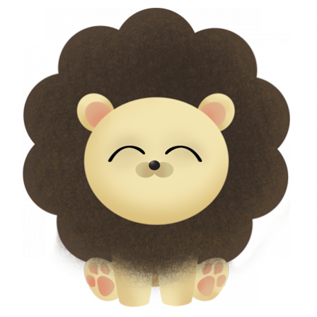stickers Savane- le petit lion