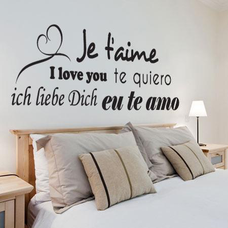 Stickers amour traduction stickers malin - Stickers muraux citations chambre ...