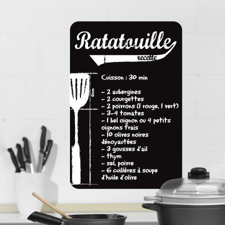 stickers recette ratatouille stickers malin. Black Bedroom Furniture Sets. Home Design Ideas