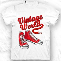 T-shirt Vintage sneakers rouges