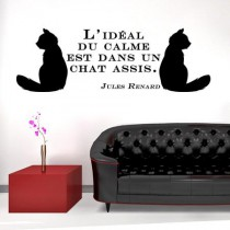 Stickers Citation Chat Jules Renard