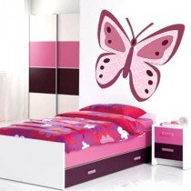 Stickers Papillon aux tons roses